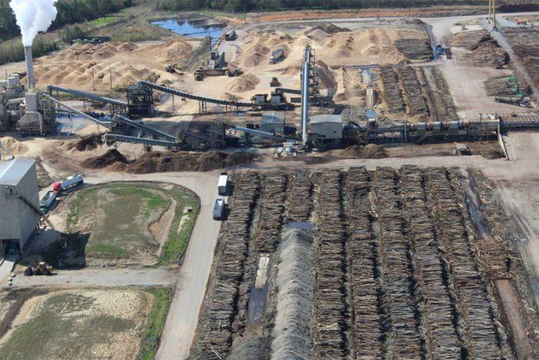 Postrojenje šumske biomase na američkom jugoistoku.