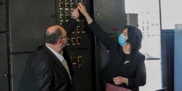 Gradonačelnica i direktor Toplane zajedno ugasili kotlarnicu; foto: Zvanični FB nalog Dragana Sotirovski