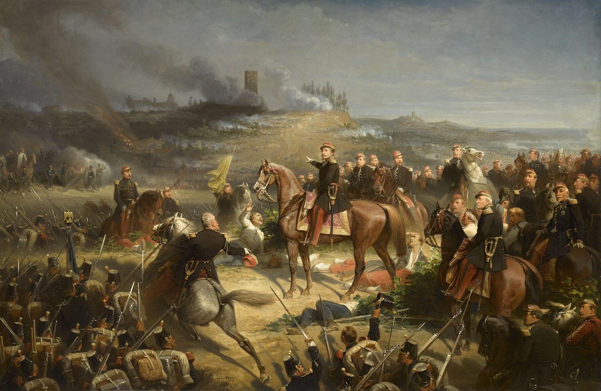 """""""Bitka kod Solferina"""", Adolf Jivon"""
