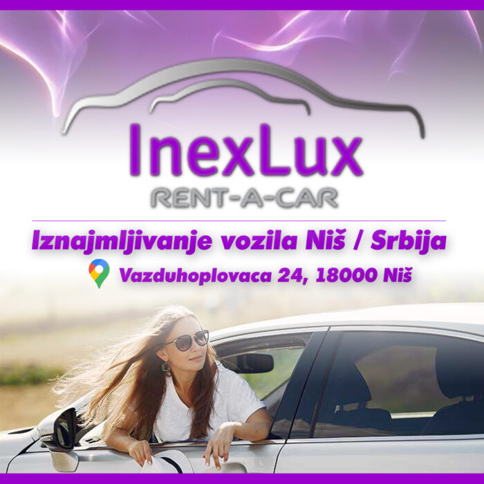 InexLux Rent a Car Niš – Iznajmljivanje automobila Niš – (Ekspozitura Aerodrom Konstantin Veliki Niš)